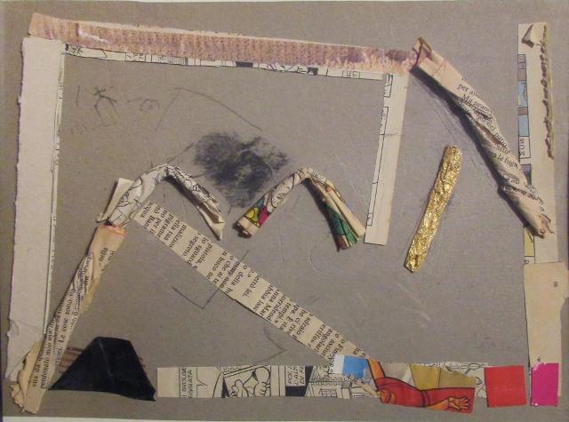 """""""Struttura"""" Giovanni Leto, 2017 (carta e carboncini su cartone, cm 30x21)"""