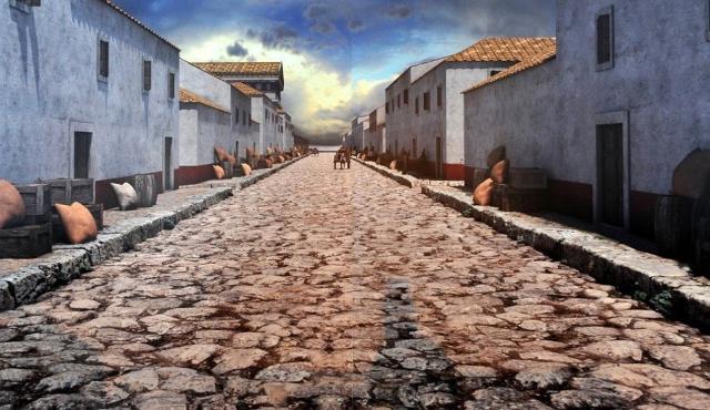 Ricostruzione virtuale delle case di Selinunte risalenti a prima del VII sec. a.C.