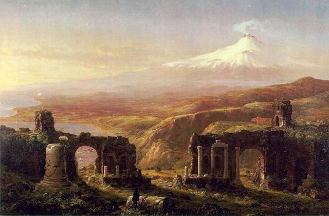 Taormina in un dipinto del pittore inglese Thomas Cole