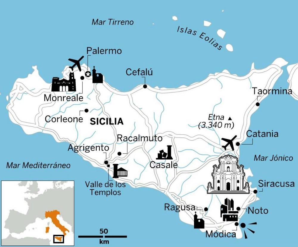 Cartina Sicilia Termini Imerese.Sul Quotidiano El Pais Le Maravillas Della Sicilia Guida Sicilia