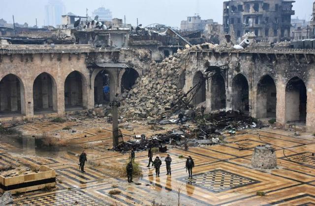 La moschea e il minareto degli Omayyadi ad Aleppo