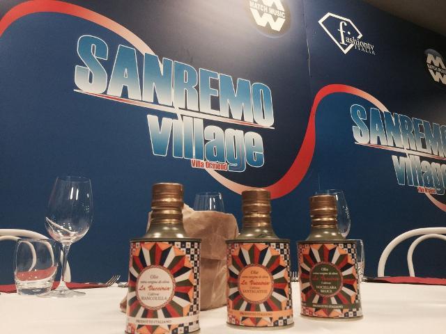 La Vucciria al Sanremo Village con l'olio santagatese di Pettineo
