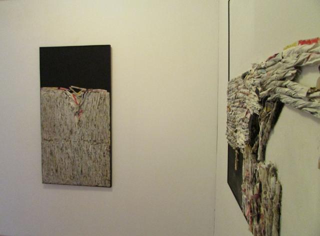 Due delle opere in mostra di Giovanni Leto