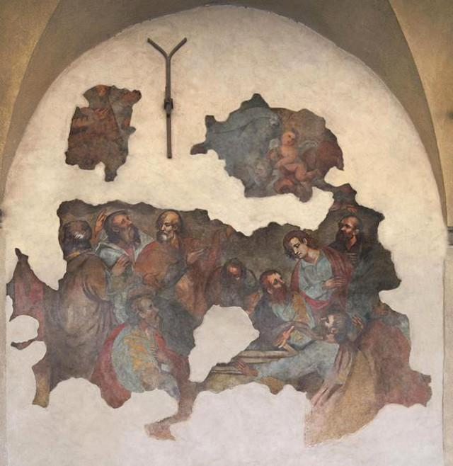 Restaurato l'affresco del 1600 sulla facciata della Matrice Vecchia di Castelbuono