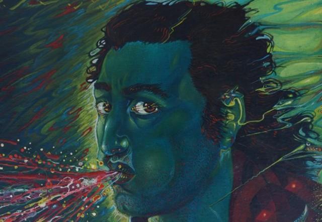 """""""Il soffio"""" part., 1979 (olio e smalti su tela)"""