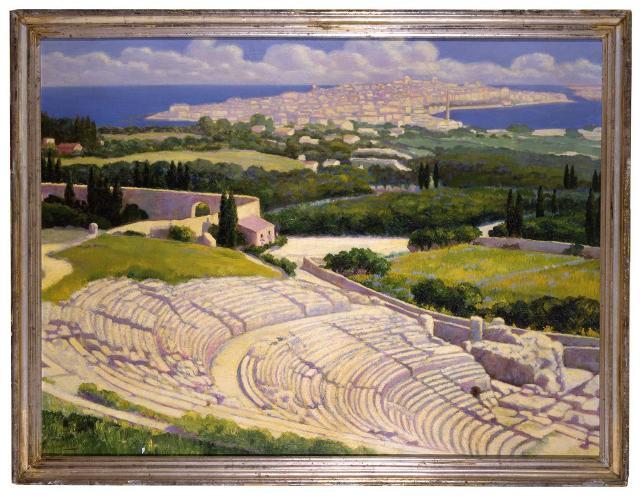 """""""Siracusa mia!"""", 1919 (Olio su tela cm. 100 x 133) - Collezione privata"""