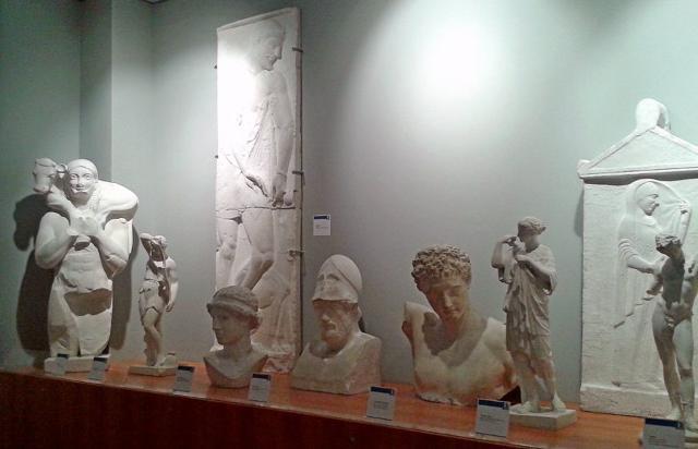 Alcuni pezzi della gipsoteca universitaria di Palermo