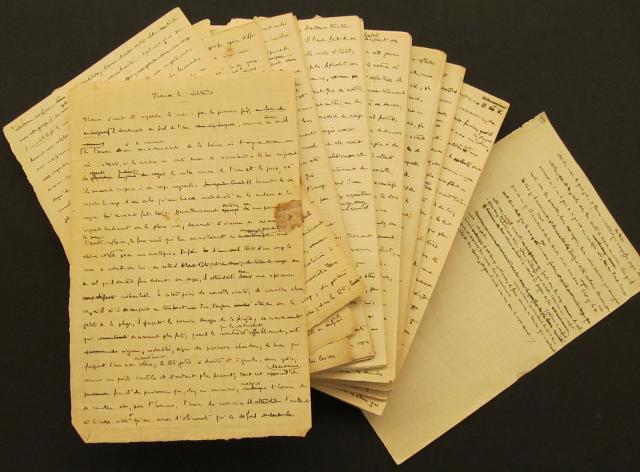 """Il manoscritto di """"Thomas le Solitaire"""", una versione precedente dell'opera di Maurice Blanchot """"Thomas l'Obscur"""""""