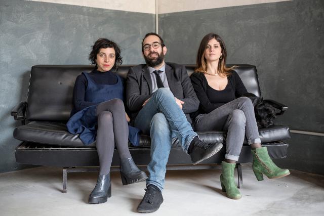 Nuove Pratiche Team - da dx Cristina Alga, Andrea Libero Carbone e Sheila Melluso