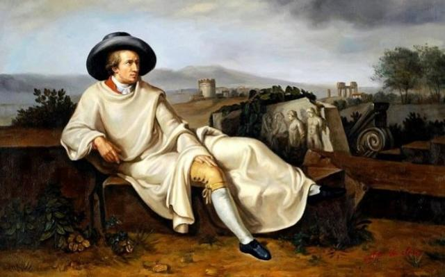 Lo scrittore tedesco Johann Wolfgang von Goethe