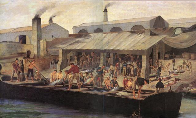 """La tonnara di Favignana"" di Antonio Varni, 1876"