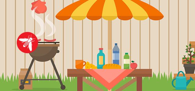 Mantenere in ordine i rifiuti e accertarsi di tenere i contenitori ben chiusi e lontani da porte e finestre in modo che le vespe non siano attirate dal loro contenuto. Particolarmente attratte da cibi dolce e zuccherini, è consigliabile evitare di lasciare cibi o avanzi a vista.