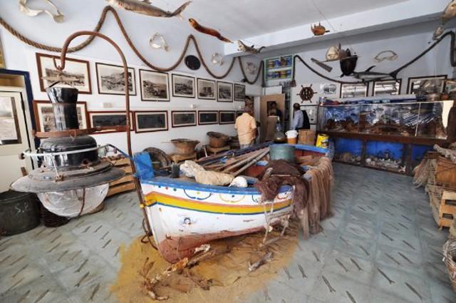 L'interno del Museo dell'acciuga di Aspra