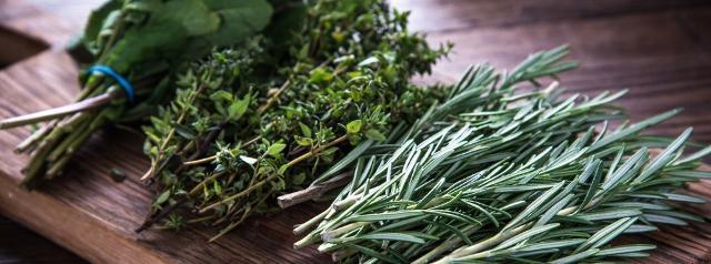 Mazzetti di erbe aromatiche - Rosmarino, salvia e menta