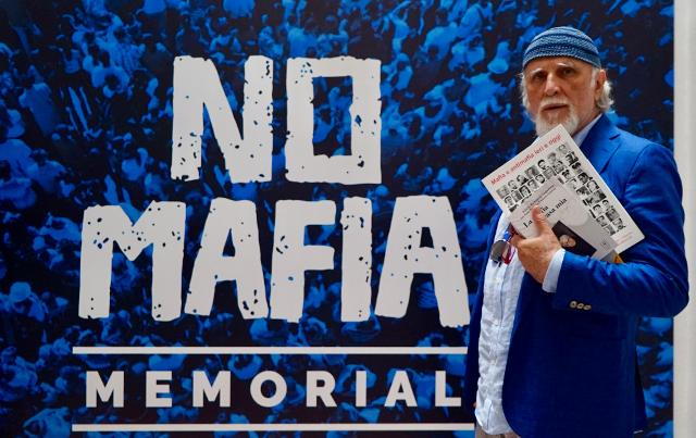 Moni Ovadia a Palermo per visitare il No Mafia Memorial