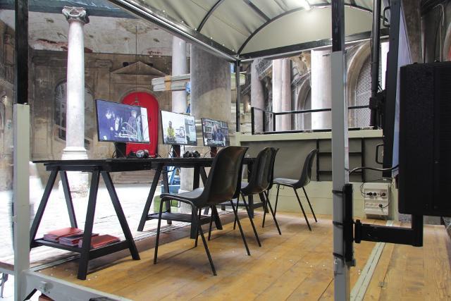 Installazione dei MASBEDO all'interno di Palazzo Costantino - ph. Wolfgang Traeger