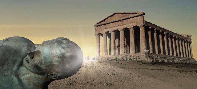 Lo spettacolo dell'alba nella Valle dei Templi