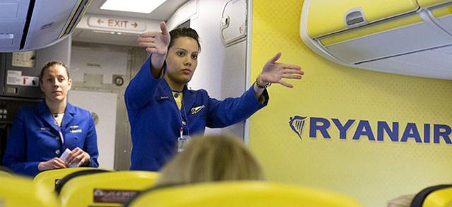 I candidati selezionati da Ryanair parteciperanno ad un corso di formazione gratuito per il personale di bordo