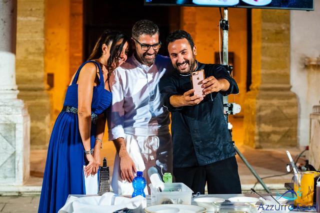 Azzurro Food - La Cucina al Centro del Mediterraneo - Da sinistra: Federica Terrana, Accursio Craparo e Natale Giunta