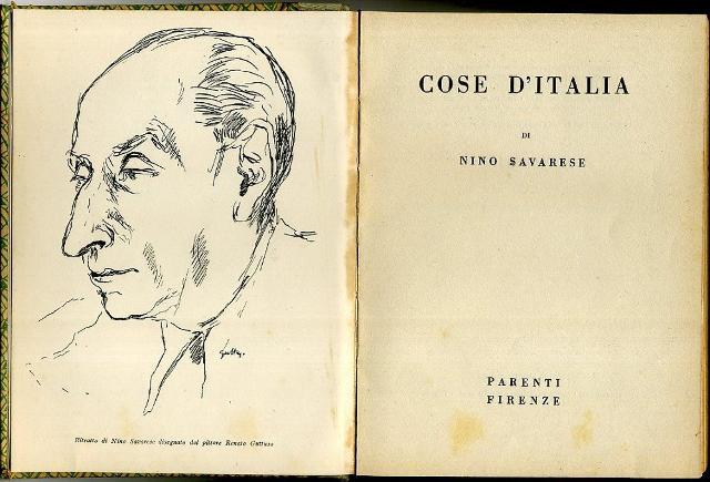"""Il volume """"Cose d'Italia"""" di Nino Savarese pubblicato nel 1940"""