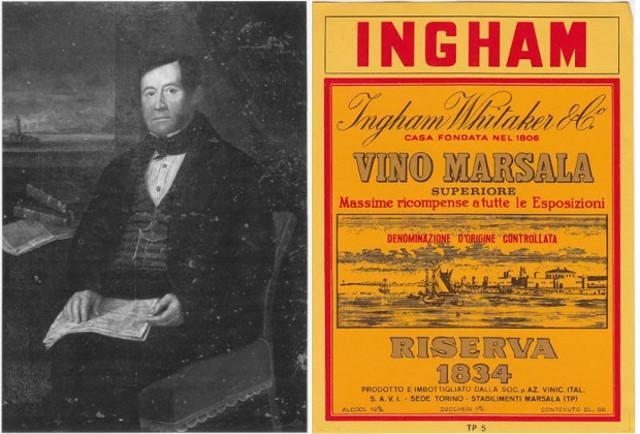 Benjamin Ingham e l'etichetta del Marsala Ingham-Whitaker