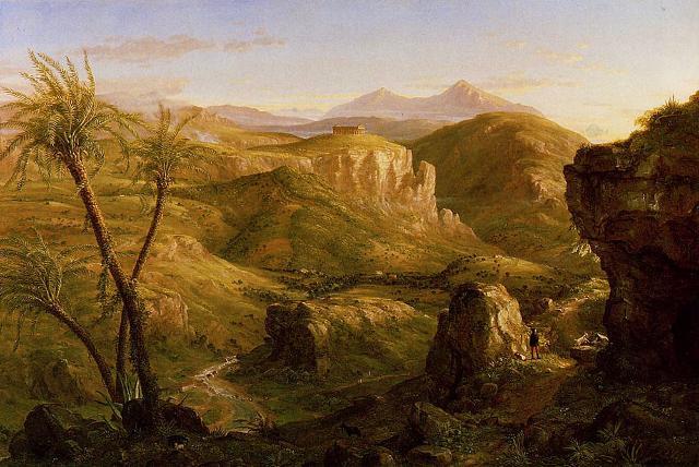 La valle e il tempio di Segesta in un dipinto di Thomas Cole (1844)