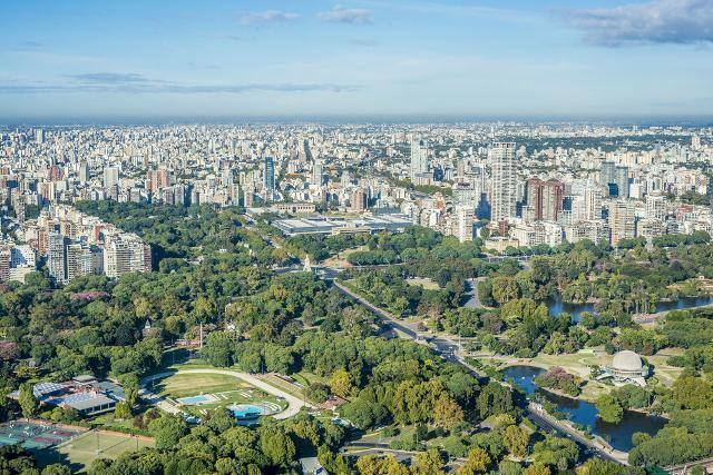 Panorama di Palermo, barrio (rione) della capitale argentina Buenos Aires