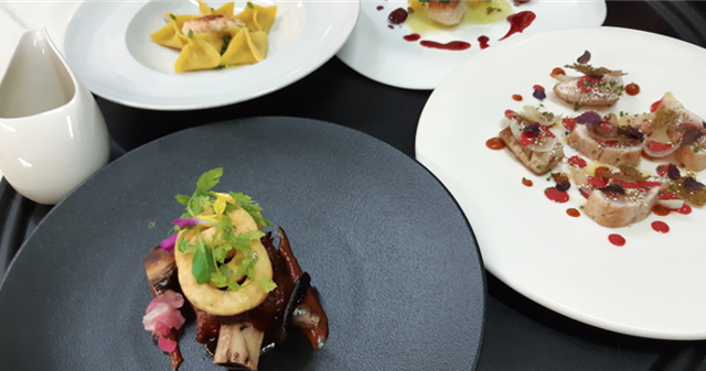 Alcuni piatti dello chef Vincenzo Candiano