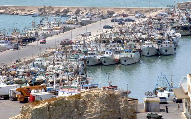 Banchine del porto di Sciacca