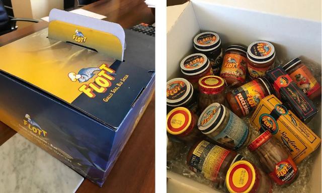 """La BOX Flott, un vero e proprio scrigno con i """"doni del mare"""", sarà omaggiata a coloro i quali effettueranno la donazione del sangue."""