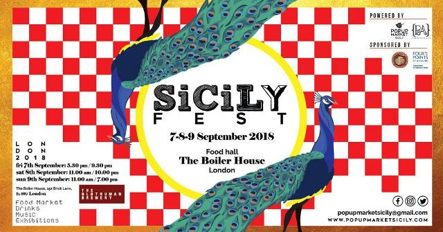 """SicilyFEST"" 7-8-9 September 2018 / Food hall The Boiler House - London"
