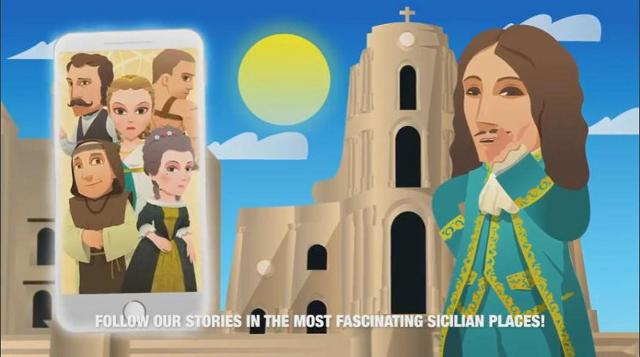 Uno screenshot di Sicily Histories APP