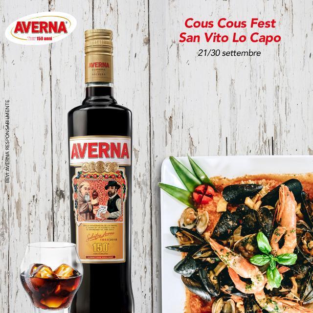 Dal 21 al 30 settembre l'Averna150Tour farà tappa a San Vito Lo Capo per il  XXI Cous Cous Fest