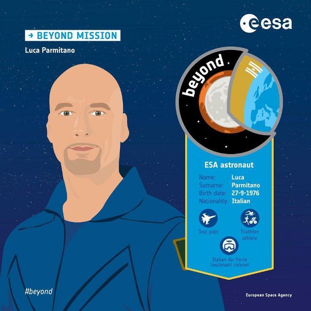 La scheda di Luca Parmitano per la missione Beyond