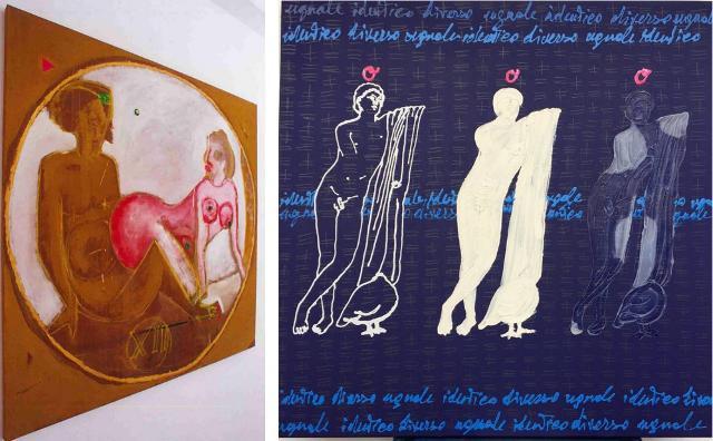 Le opere di Franco Castiglione e Giuseppina Riggi esposte alla Galleria dell'Eros di Piero Montana
