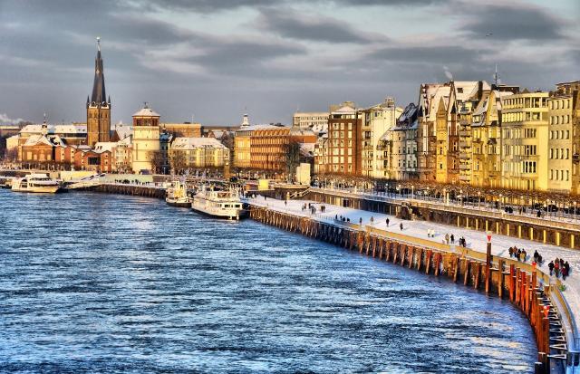 Una veduta di Düsseldorf