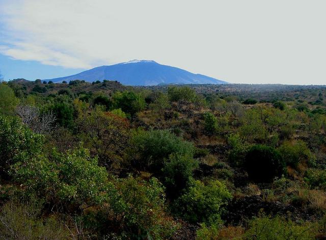 L'Etna visto dalle campagne di Bronte