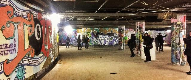 I graffiti nel sottopassaggio della Worringer Platz - Düsseldorf