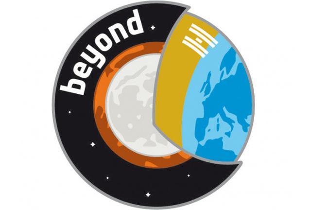 """Il logo della missione spaziale """"Beyond"""""""