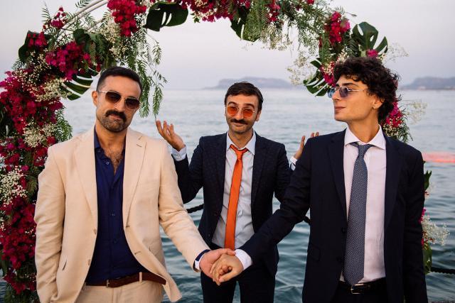 Alcuni membri degli Aretuska al matrimonio di Roy Paci