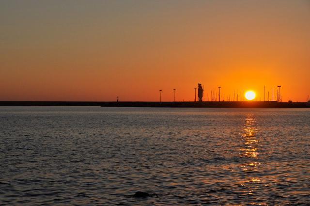 Il mare di Mazara del Vallo al tramonto