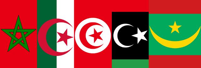 """Con il termine Maghreb (in arabo """"luogo del tramonto"""", perché situato nella parte occidentale dei paesi arabi) si intende l'area più a ovest del Nordafrica che si affaccia sul mar Mediterraneo e sull'oceano Atlantico. I paesi del Maghreb sono: Marocco, Algeria, Tunisia, Libia e Mauritania"""