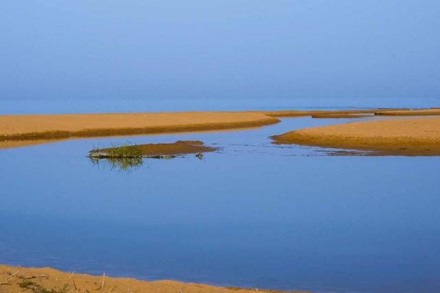 Lo sbocco a mare del fiume Belìce