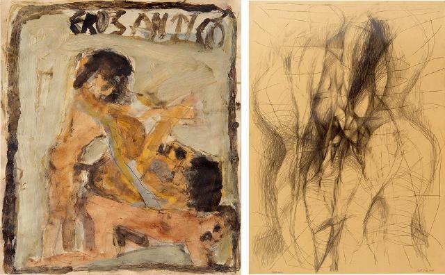 Le opere di Tommaso Serra e Giovanni Castiglia in mostra alla Galleria dell'Eros di Piero Montana
