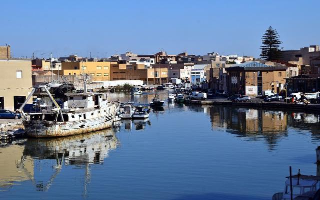 Un tratto del porto di Mazara del Vallo