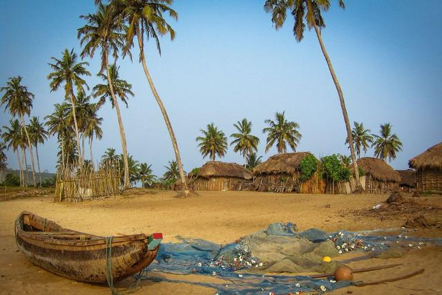 Un villaggio di pescatori in Ghana