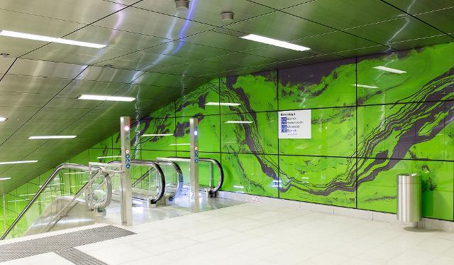 Un tratto della Wehrhahn-Linie di Düsseldorf