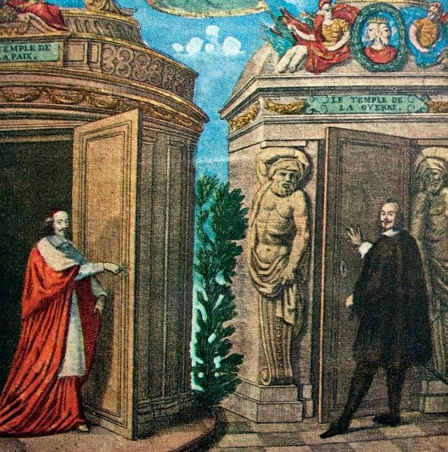 Allegoria della Pace dei Pirenei con Mazzarino che apre il Tempio della Pace