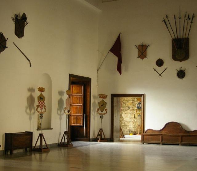 """La """"sala della congiura"""" del castello di Caccamo"""