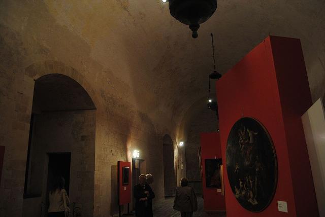 Sala dei Parlamenti al Castello Ursino. Qui si tenne durante il regno aragonese dell'Isola l'Assemblea dei Comuni siciliani. Oggi è sede della Pinacoteca civica.
